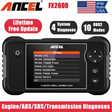 Ancel FX2000 Car Check Engine AT ABS SRS SRS Code Reader OBD2 Scanner Diagnostic
