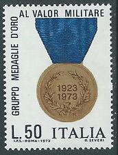 1973 ITALIA MEDAGLIE D'ORO AL VALOR MILITARE MNH ** - ED