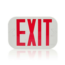 New Exit Sogn Emergency Smd Led Sign Red Letter Light Low Voltage White