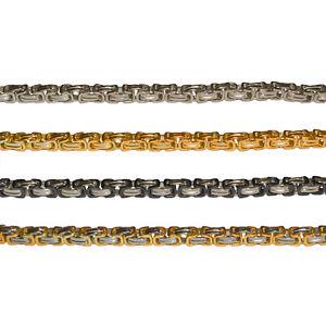 Halskette + Armband im Set 9 mm Königskette Edelstahl High Tech Panzer Kette