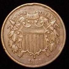 "SCARCE 1868 TWO CENT PIECE ~ FULL ""WE"" 2 CENTS COIN ~ FREE SHIPPING"
