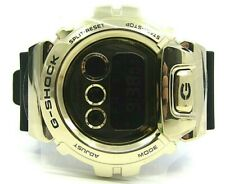 AUTHENTIC GSHOCK DIGITAL WATCH BLACK RESIN STRAP LARGE GOLD FACE RETAIL $299