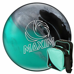 Bowling Ball und Tasche Set Ebonite Maxim Seafoam und Compact Bag lime
