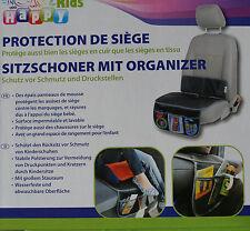 Happy Kids Sitzschoner mit Organizer Sitz Schonen  Schmutz Aufbewahrung