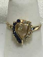 14k Gold Ring With Sapphires And Diamonds