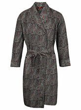 Men's Lightweight Cotton Dressing Gown, Navy & Wine Paisley (sizes available)