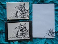 Cat and Mouse 3 Piece Set-Notepad, 6 Blank Notecards and Print