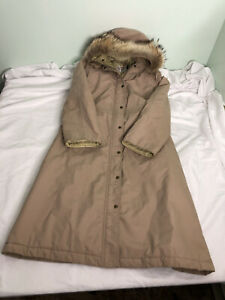 Vintage Orvis Fur Hood Gore-Tex Fishing 16 XL Jacket Insulated Trench Coat Fly