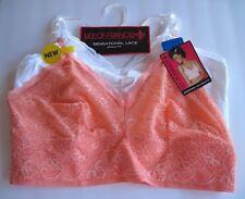 d1d66a19cd Lily of France Bras Sensational 2-pack Lace Bralettes 2179106 Peach White  XL Set