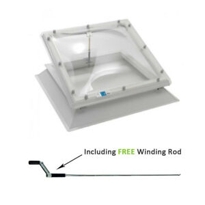 Coxdome Rooflight - Opening Ventilation Skylight Dome for Flat Roof + Kerb