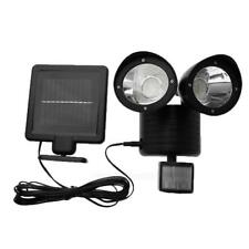 Solar Power Motion Sensor Light 22LED Dual Head Security Floodlight Outdoor Lamp