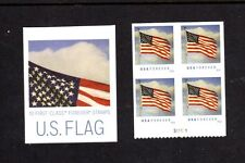5054a Waving Flag in the Wind Block of 4 With P# & Cover   MNH-VF