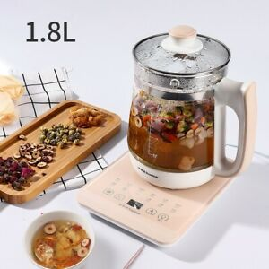800W Multifunction Electric Health Pot Kettle 1.8L Tea Soup Stainless Steel 220V