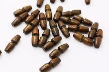 Mini Wooden Toggle Buttons Dark Brown Two Hole Duffel Duffle Coat Long 3pcs
