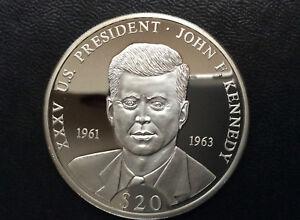 2006 Republic of Liberia John F. Kennedy $20 Silver Coin A2436