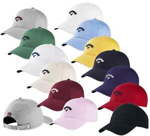 Callaway Mens Heritage Twill Hat Adjustable Golf Cap - New 2021 - Pick Color