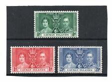 Cayman Islands GV1 1937 Coronation sg 112-14 VLH.Mint