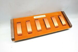 Rare Orange Vintage 1960's Bulova Caravelle Watch Display Presentation Case Box