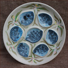 Vintage French Oyster Plate Marina near Quimper 70's