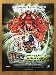 Yu-Gi-Oh! Rise of Destiny TCG Cards Print Ad/Poster Original Official Promo Art