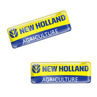 2 x Domed New Holland Agriculture Stickers Tractor Equipment Combine Balers KS90