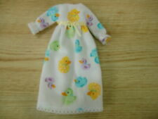 Blythe/Skipper Doll Clothes Ducky Long Flannel Nightgown