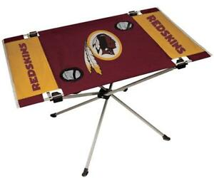 Washington Redskins Endzone Tailgate Table [NEW] NFL Portable Chair Fold Party