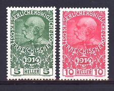 1914 AUSTRIA PRO OPERE DI GUERRA SERIE 2 V.  UNIFICATO 136/137  MNH **