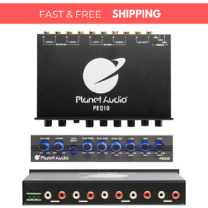 Planet Audio 4 Band Pre-Amp Equalizer w/ Remote Subwoofer Level Control