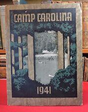 Camp Carolina in Mountains of Brevard NC 1941 Vintage Summer Camp Pamphlet