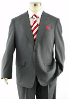 BROOKS BROTHERS Brookscool Men's Gray Pinstripe 2-Btn Wool Summer Suit ~ 40R