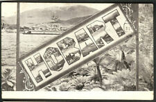 "New ListingTasmania ""Mt. Wellington & City"" Overprinted Hobart with small views 1911"