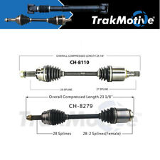 Surtrack 2PCS FRONT LEFT/RIGHT Cv Axle Shaft For 2014-2017 Jeep Compass FWD