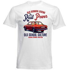 VINTAGE TEDESCO AUTO VOLKSWAGEN JETTA COUPE-NUOVO T-shirt di cotone