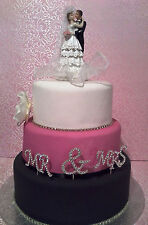 BRIDAL/WEDDING CAKE TOPPER/DECORATION - Romantic/Loving Bride & Groom