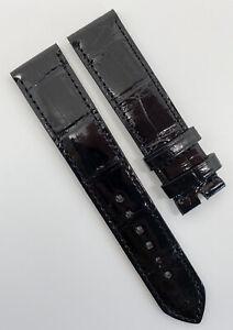 Authentic New Rolex Cellini 19mm x 18mm Black Alligator Watch Strap 335124 OEM