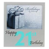 "Happy 21st Birthday  5"" x 3.5"" Photo Frame By Juliana Freestanding Frames Gift"