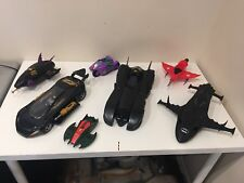 Vintage 1992 Kenner Batman Batmobile Batmissile PLANE , COUPE , JOKER CYCLE
