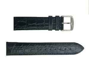 Original Longines 20mm Black Leather Watch Band L682122618 without Buckle
