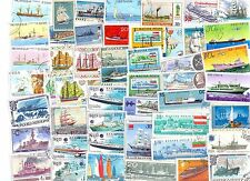 SHIPS BOATS 50 DIFFERENT USED STAMPS