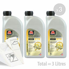 Car Engine Oil Service Kit / Pack 3 LITRES Millers NANODRIVE EE 10w-40 3L