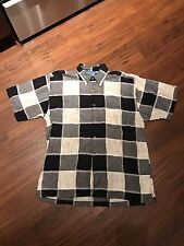 Mens Canopy Clothing Short Sleeve Checkered Multicolor Extra Large Button Down