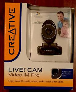 Creative Live! CAM Video IM Pro 800 x 600 video 1.3MP Photos Noise-canceling mic
