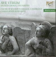 CAMBRIDGE ST.JOHN'S COLLEGE CHOIR - AVE VERUM-SACRED CHORAL FAVOURITES  CD NEW+