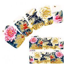 Tattoo Nail Art Aufkleber Japan Flower Blumen Glitzer Nagel Sticker Neu!