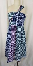 Anthropologie Maeve Waverly Dress Gingham Check Deconstructed Wrap Womens 12