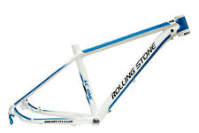 "New Rolling Stone Alloy 26"" MTB Frame XC one  18"" white blue"