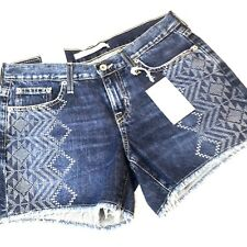 Big Star Shorts Sz 28 Alex Fray Hem Desert Vista Ethnic Print Womens Cut Off New