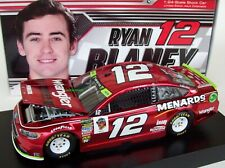 Ryan Blaney 2018 Wrangler Menards #12 Penske Ford Color Chrome 1/24 NASCAR Rare