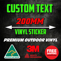 200mm CUSTOM STICKER - Vinyl DECAL Text Name Lettering Car Window Van